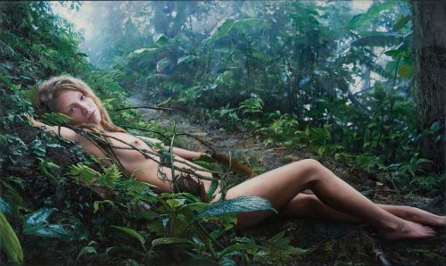 Untitled; Priscilla Lying in the Woods