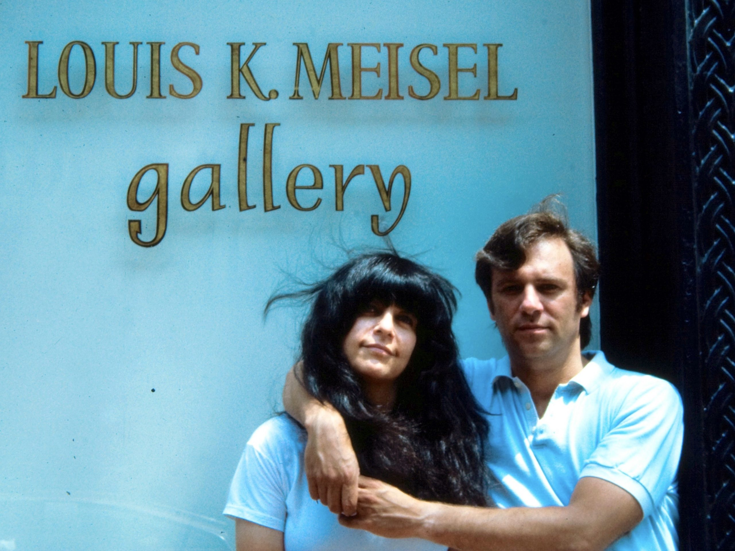 Picture of Louis & Susan outside the gallery at 141 Prince Street, SoHo – Late 1970's