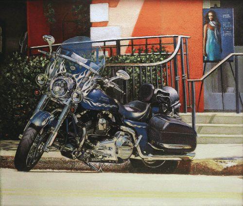 Parked Harley - Third Street, Naples, FL