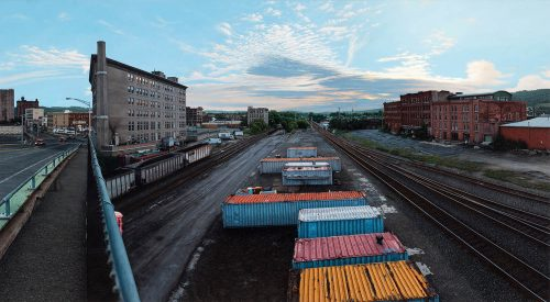 Depot at Dusk