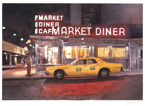 Market Diner at Night