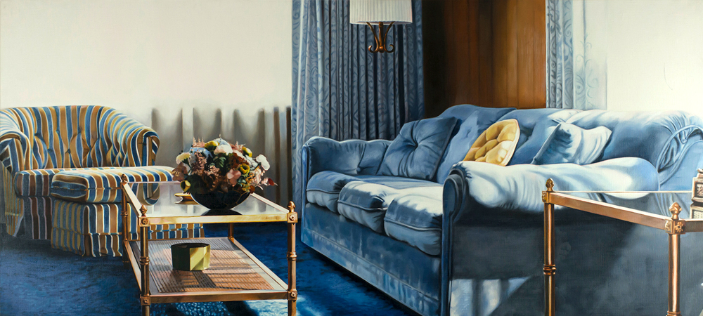 Blue Couch and Chair - Jack Mendenhall