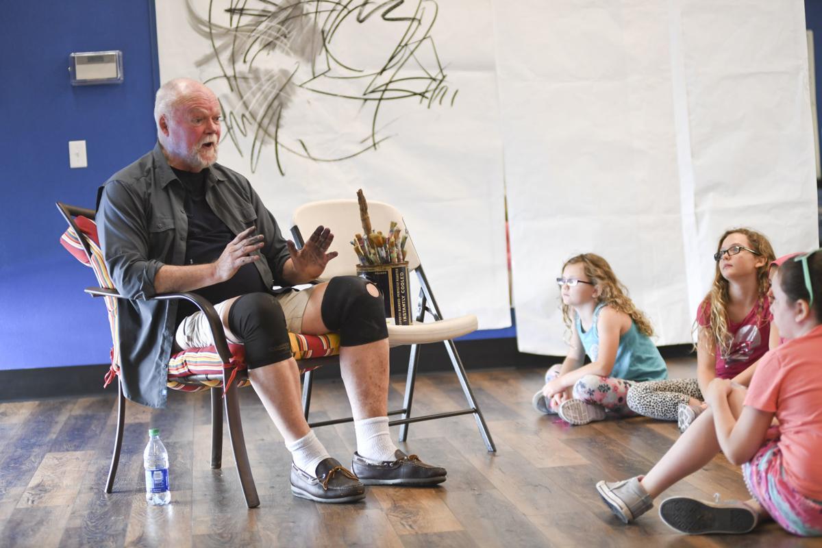 Green speaking with Children