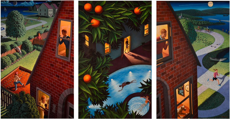 Triptych by Leonard Koscianski