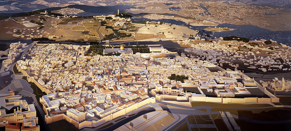 detail of Jerusalem by Ben Johnson